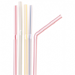 Straws: Striped Bendy